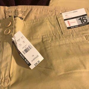 NWT Ladies Tan Dress pant Size 16